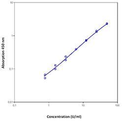 p53 ELISA kit Standard curve